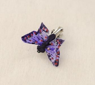 12 Farfalle In Piuma Da 4 Cm Con Clip In Metallo