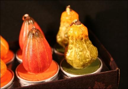 6 Candele Tealight Zucca Cera