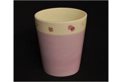 Vaso Romantica Decorato Bianco E Lilla In Ceramica