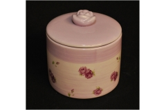 Barattolo Romantica Fiori Ceramica