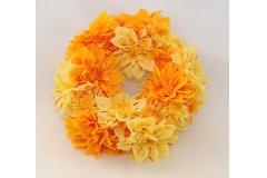 Coroncina Di Dalia Giallo/arancio Diametro 28 Cm