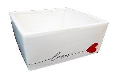 Ciotola Quadra Love 13x13x7 Cm Contenitore Ceramica San Valentino