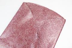 Pz 10 Cerchi Polyflor Rosso D.98 Cm Fibra Metallizzata