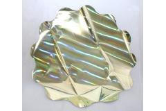 25 Sottovasi Ologramma Giallo Cangiante Retro Argentato Diametro 60 Cm 35 Micron
