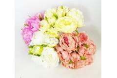 Bouquet Peonia Con Bocciolo