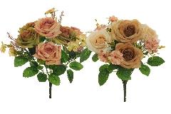 N 1 Bush Rose Cosmos Erica Mid Season H.36 Cm Artificiale
