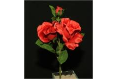 Rosa Bocciolo Fiore Con Foglie Seta