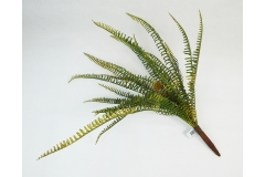 Pianta Artificiale Bush Felce Natura 20 Rami Altezza 45 Cm Steli Modellabili
