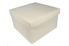 2 Scatole Fondo/coperchio Panna 25x25x15 Cm