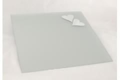 Specchio Quadro Satinato Con Cuori 45x45 Cm