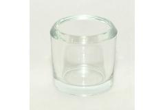 Bicchiere In Vetro Trasparente Spesso Alto 8 Cm Diametro 7 Cm