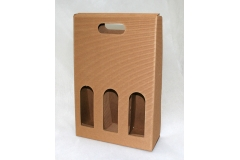 Valigia Porta 3 Bottiglie In Cartoncino Ondulato