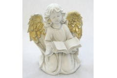 Angelo Bianco Con Libro 20x25 Cm