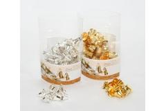 60 Campanelle Di Natale Color Oro O Argento 1.6 Cm