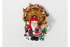 Babbo Natale C/ruota Carillon