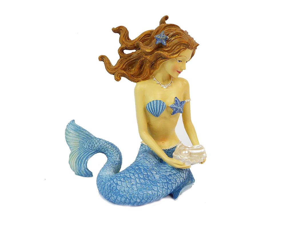 Sirena In Resina Decoro Mare Colore Assortito