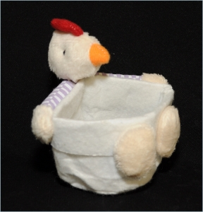 Sacchetto Gallo Porta Uovo Stoffa