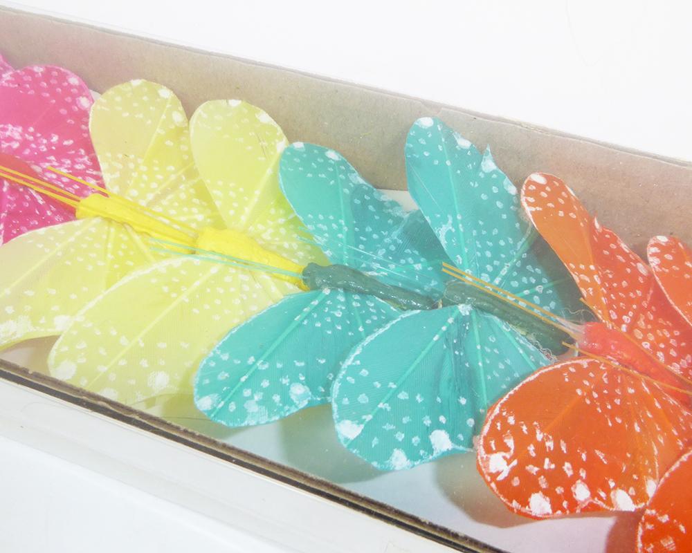 Farfalla 6 Colorazioni Cm 8 Pz 12 Con Molletta