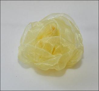 12 Rose In Organza Ocra/giallo