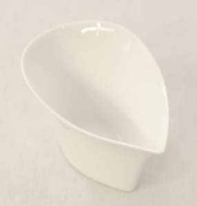 Vasetto foglia In Porcellana Bianca 11.5x7 Cm Alto 5.5 Cm