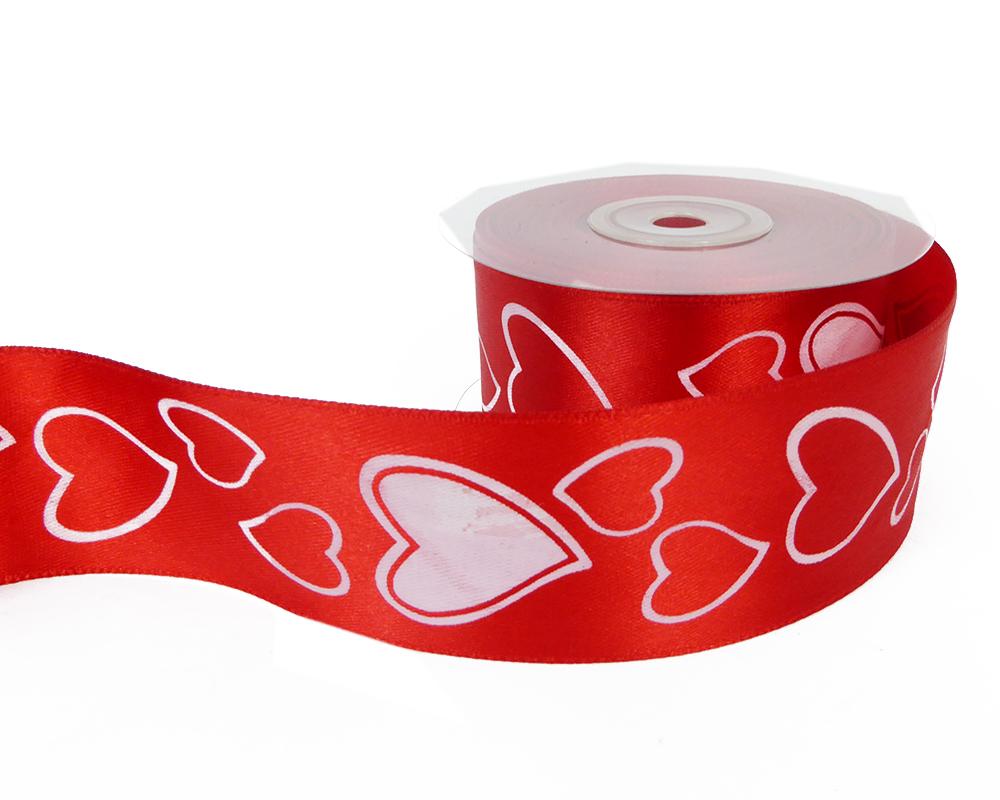 Nastro Crash Rosso Con Cuori Mm 50 Mt 10 San Valentino