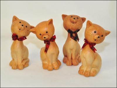 Gatto Ceramica Pezzi 4