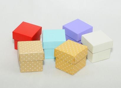 10 Scatole Fondo Coperchio 5x5x5 Cm