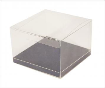 10 Scatole Trasparenti Fondo 12x12x12