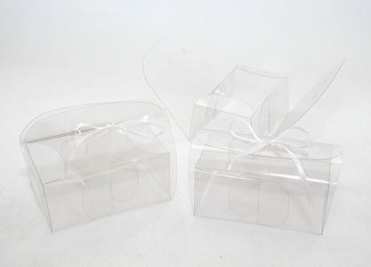 10 Astucci Trasparenti Con Fori 9.5x6.5x4 Cm