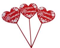 Pick Cuore Auguri Mamma Pz 12 Decorazione Addobbi Festivita
