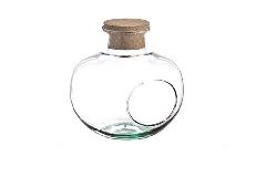 Bottiglia Tonda C/ Buco Tappo Sughero H.23 D. 19