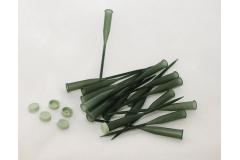 100 Fialette Con Punta Da 15 Cm In Colore Verde