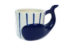 Tazza Mug Balena In Ceramica 13,6x9,5x11,5 Cm Decorazione Regalo Linea Mare