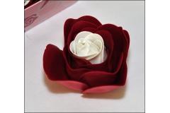 Piatto Fiore Rosso E Blu 12x12