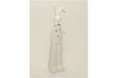Coniglio In Porcellana Seduto Con Strass