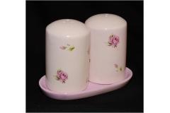 Set Saliera Pepiera To Rose Ceramica