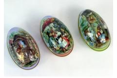Uovo Apribile Latta Decorata Pz 1