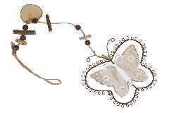 Pz 1 Decorazione Farfalla Legno Pendente
