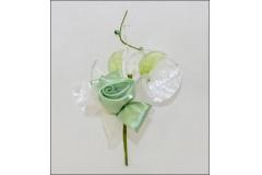 Rosa Satin Elegance Verde Salvia