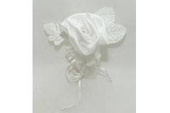 Segnaposto Bianco A Rosa Con Sacchetto