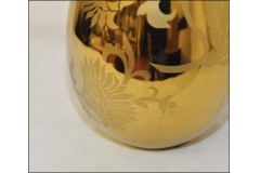 Vaso Alto Color Oro