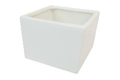 Cubo Ceramica Bianca 6x6x6 Cm Contenitori Arredo Wedding