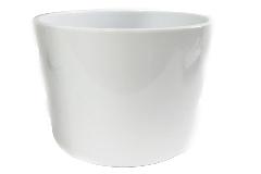 Cilindro Ceramica Bianca D.28 H.25 Cm Portavaso Decorazione Arredo