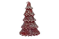 Cero Albero Natale Rosso Glitter Grande