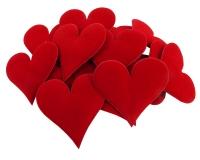 Applicazione Cuore Rosso Pz 20 Festa Innamorati