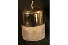 Candela Cero Metal Glitter Centro Tavola
