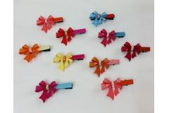 10 Mollette Colorate Con Fiocco