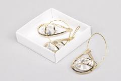 Pz 3 Applicazione Goccia Oro C/diamante 5,5 Cm Wedding