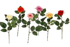 Bocciolo Rosa Artificiale H.55 Cm Da Composizione Regalo