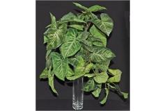 Pianta Artificiale Bush Cadente Foglie Nephthytis 40 Cm